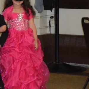 Pink child size gown